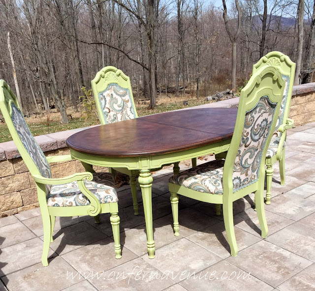Dining Room Table And Chairs Makeover using RePurpose Chroma-Color from On Fern Avenue