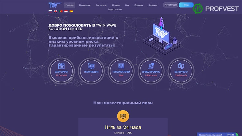 Twin Wave обзор и отзывы HYIP-проекта