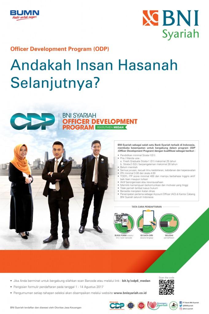 Penerimaan Bank BNI Syariah Program ODP Medan
