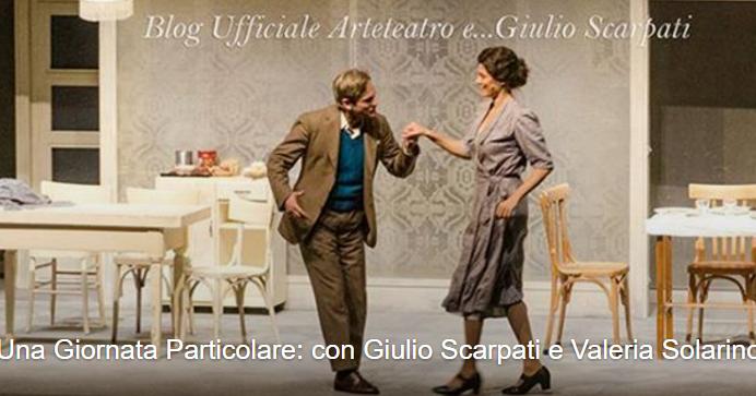 Parte stasera, 24 novembre, da Spoleto, la seconda stagione teatrale di 'UNA GIORNATA PARTICOLARE' con Giulio Scarpati