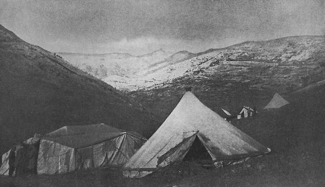THE HILLSIDE ENCAMPMENT AT BISTRIKA, MAY, 1917