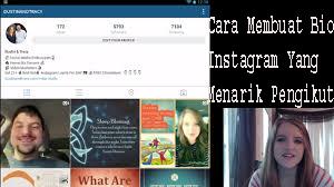 Cara Membuat Bio Instagram Yang Menarik Pengikut