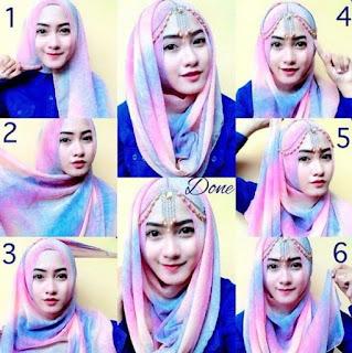 tutorial hijab segi empat untuk pesta pernikahan