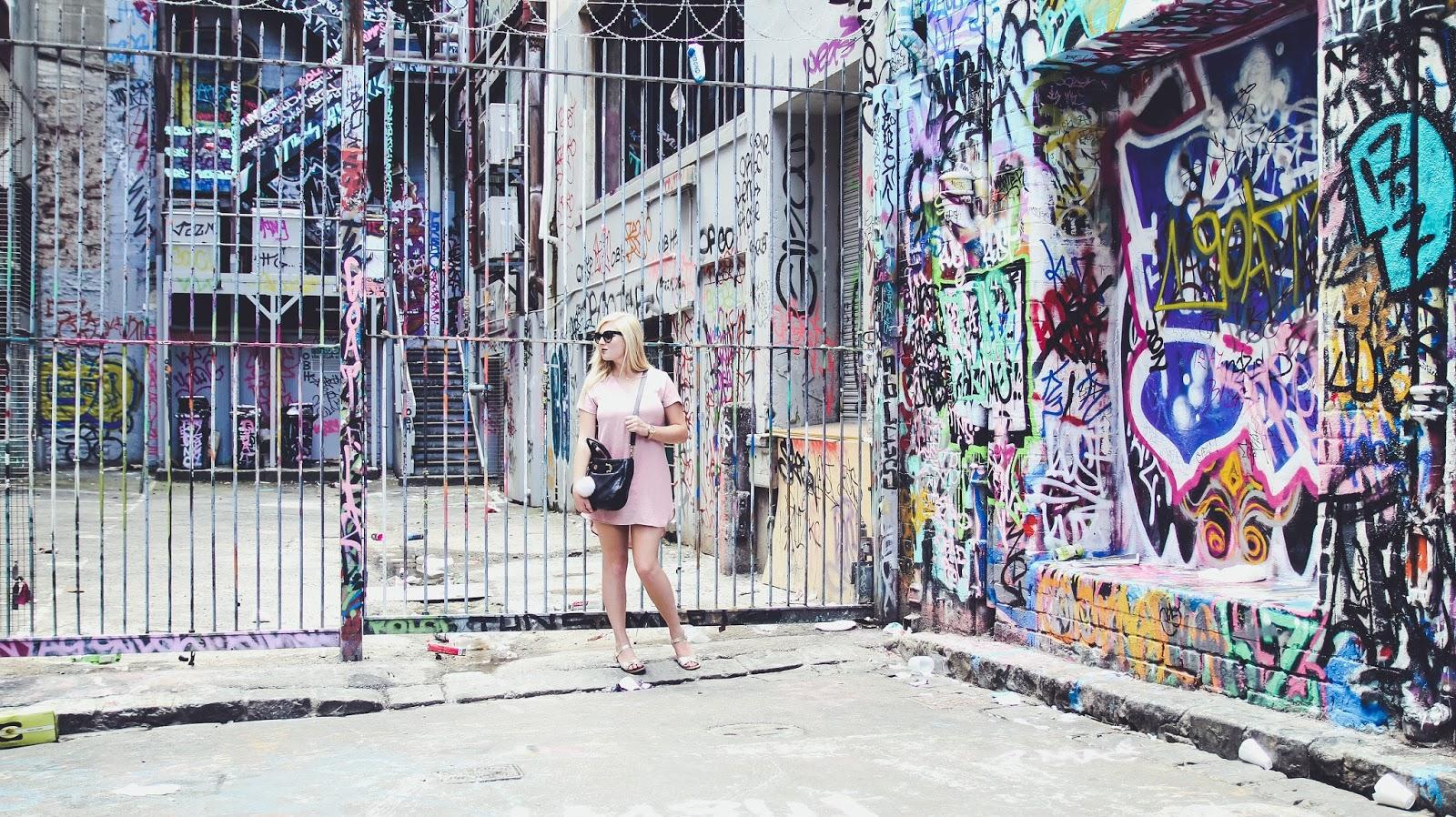 Hoiser Lane Grafitti Street Art in Melbourne, Australia | GlobalFashion Gal Travel Blog