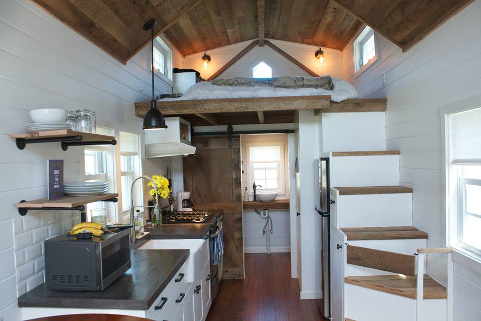 Tiny house town the modern farmhouse tiny home for The new small house