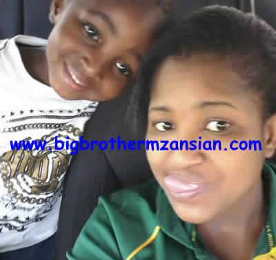 BBMzansi Winner Ntombi With Son Skhokho Photo