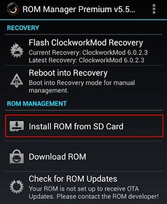 Instal Custom ROM Menggunakan ROM MANAGER | andromin