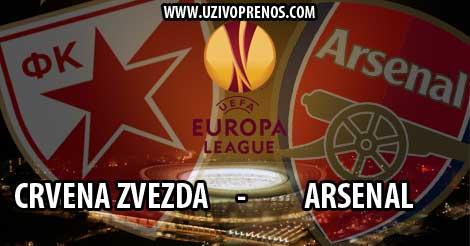 LIGA EVROPE: Crvena zvezda - Arsenal UŽIVO PRENOS