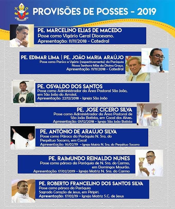 Dom Juarez Sousa anuncia transferências de padres na Diocese de Parnaíba