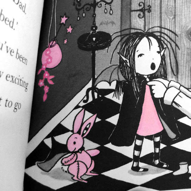 Pink Rabbit has a happier life with Isadora Moon than he did with Victoria Stitch