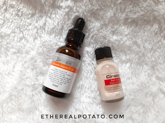 Ethereal Potato - Ellen Lim: [REVIEW] Ciracle Vitamin Source C-20 and Ciracle Pimple Solution Red Spot Pink Powder