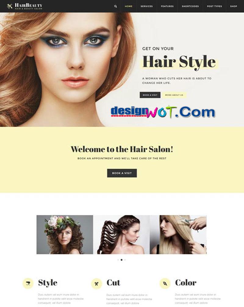 Hair Beauty - Hairdresser, Barber & Hair Salon WordPress Theme