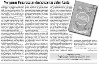 Mengemas Pesahabatan dan Solidaritas Dalam Cerita merupakan resensi atas novel Matahari karya Tere Liye terbitan Gramedia Pustaka Utama di muat oleh Kabar Madura.