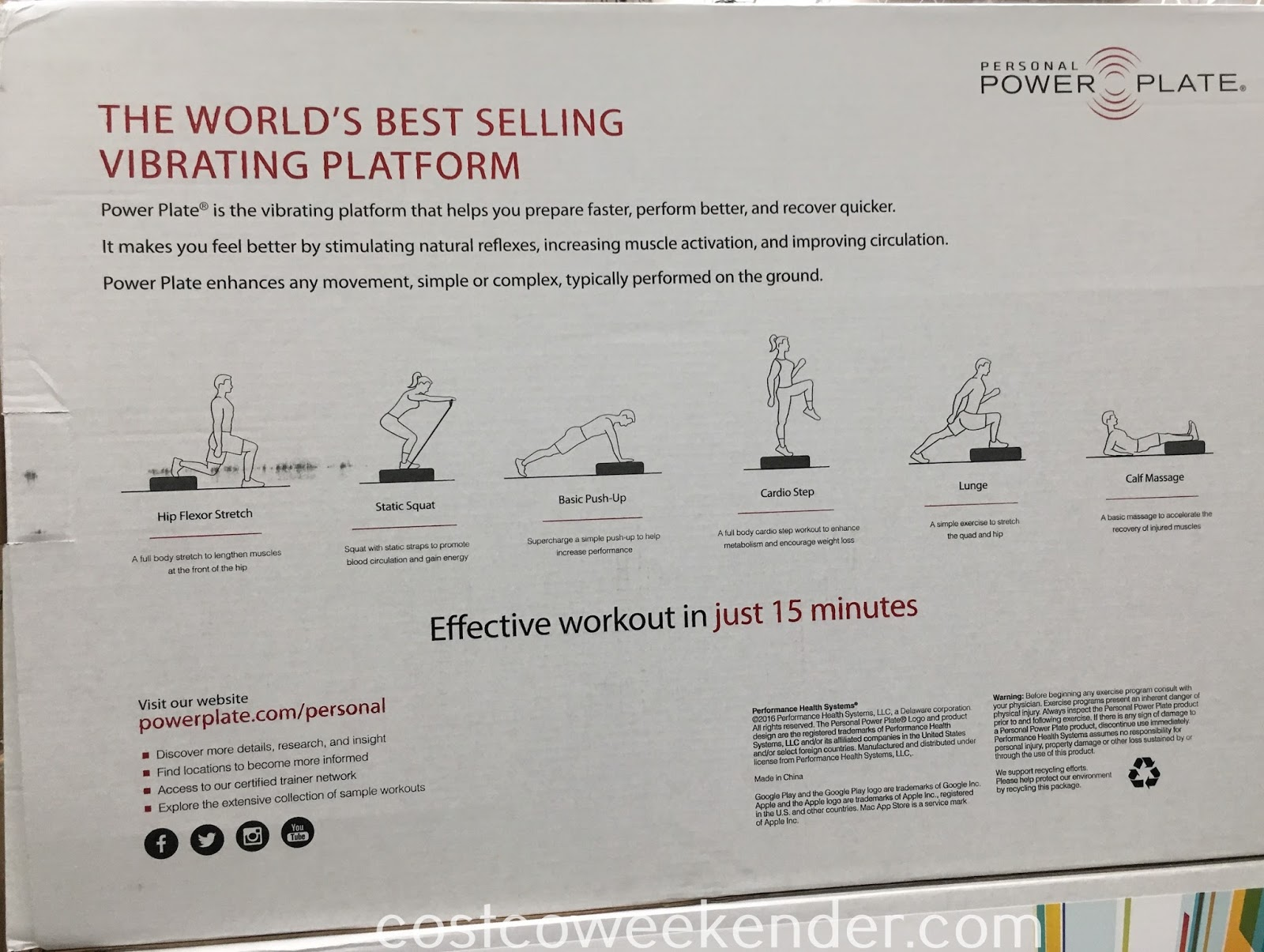 Costco 1118838 - Personal Power Plate - all you need for a good workout and exercise