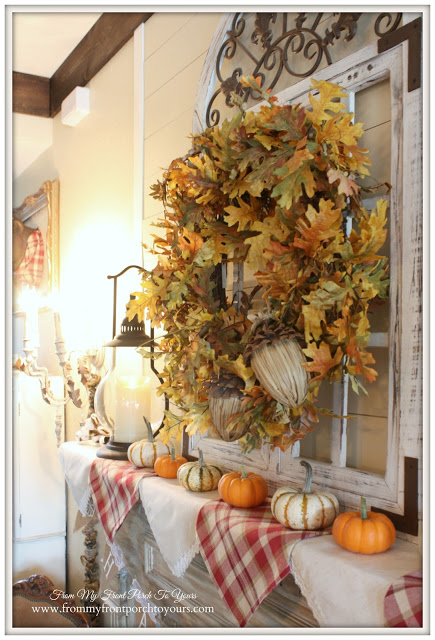 Farmhouse Fall Manetl-Treasure Hunt Thursday- From My Front Porch To Yours