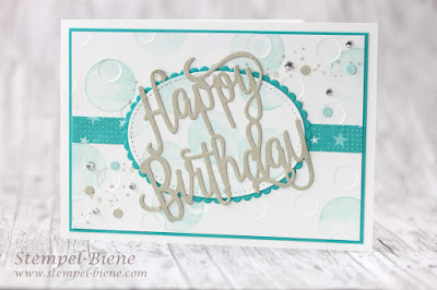 Geburtstagsgrüße mit Stampin' Up! Thinlits Happy Birthday