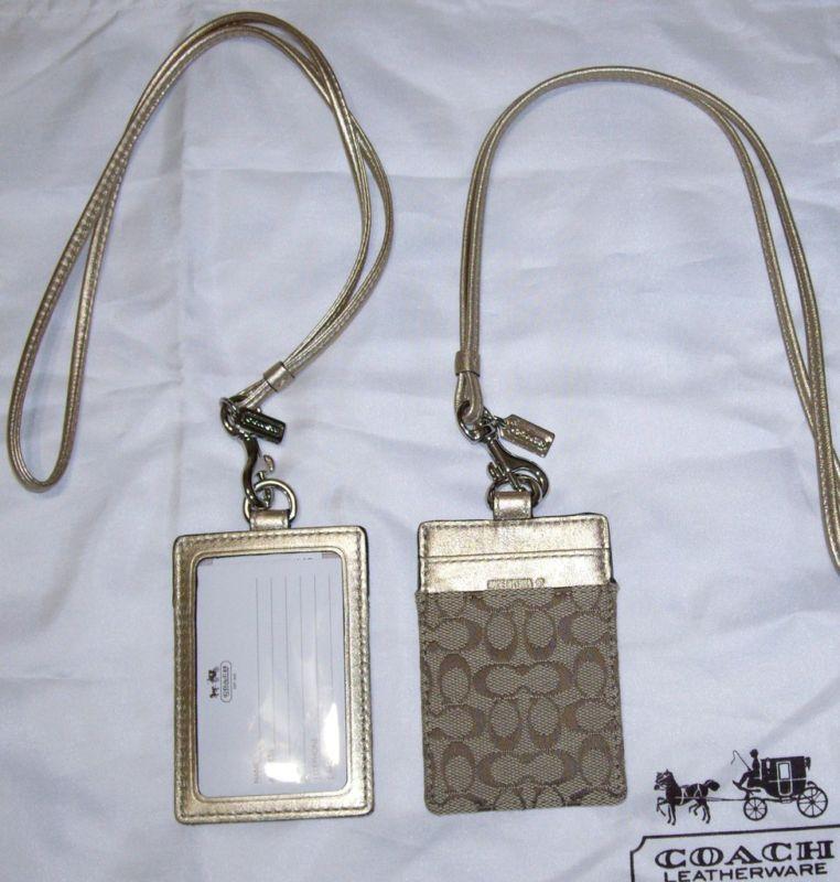 Designer Handbag: Coach Landyard ID Case Holder