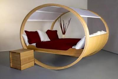 Rekaan Moden, Unik, Kreatif dan Menarik Perabot di Ruang Tamu, Bilik Dan Pejabat - katil berbuai