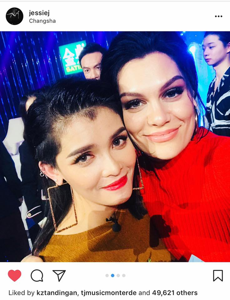 "Jessie J calls KZ one of the ""amazing people"" she worked with in Singer 2018"