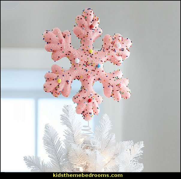 Candy Snowflake Tree Topper   candy Christmas theme decorating - candy themed christmas decorations - christmas candyland decorations -  candy ornaments -  candy shaped holiday ornaments - candy themed Christmas decor -