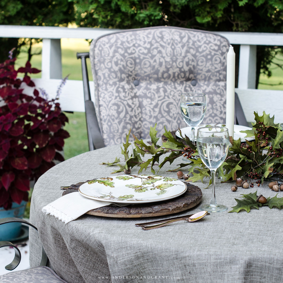 Fall Tablescape Al Fresco