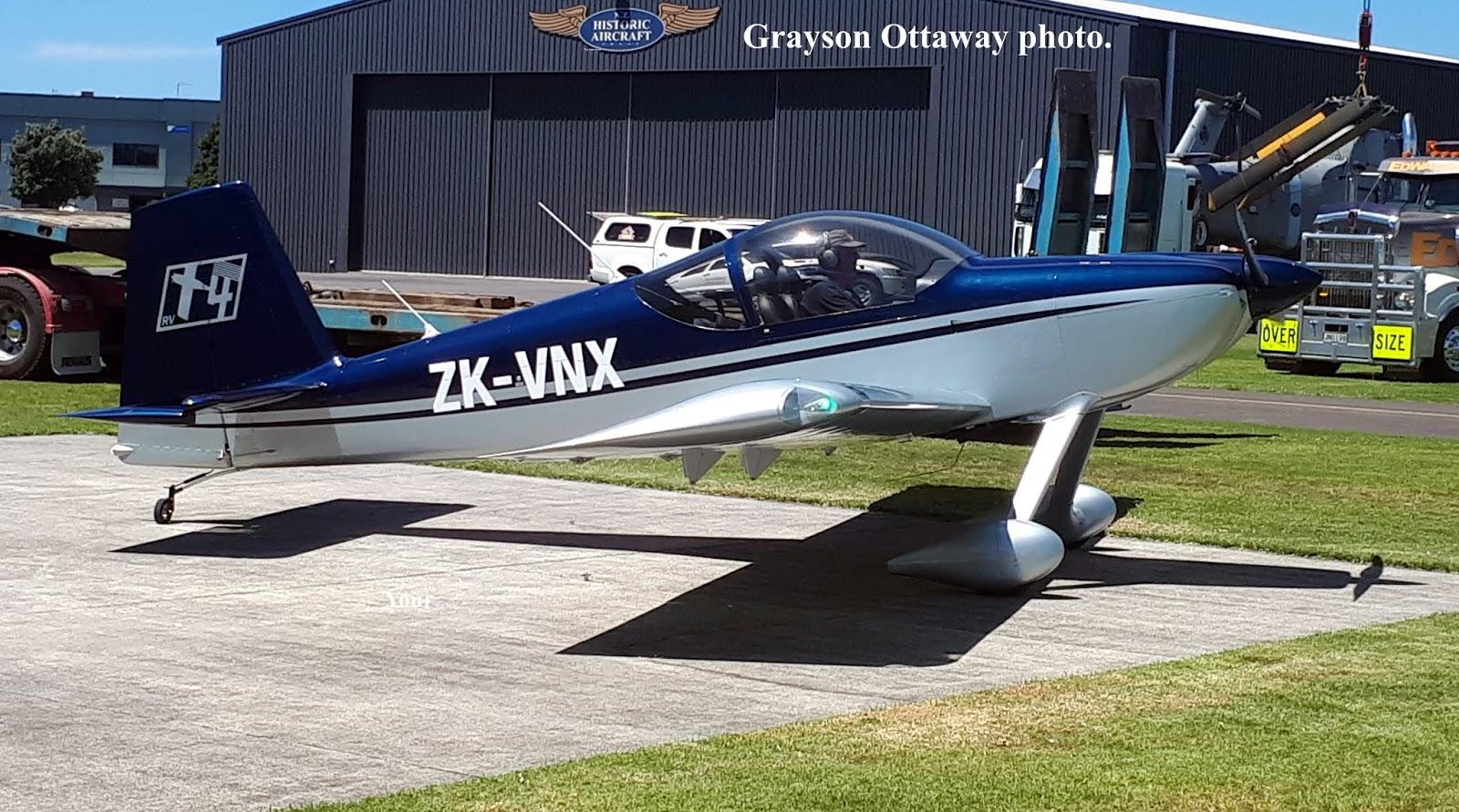 4decc56fe2 NZ Civil Aircraft  Vans RV 14 ZK-VNX