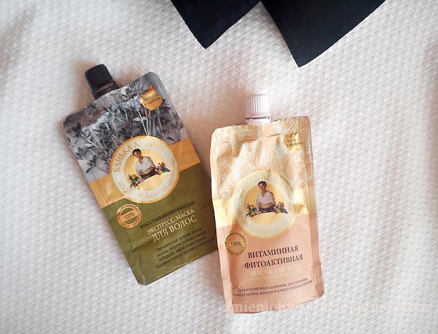 Fitoaktywna witaminowa maseczka do twarzy & ekspresowa maska do włosów: blask i elastyczność | Bania Agafii