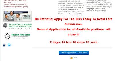 Fake Nigerian Customs Website