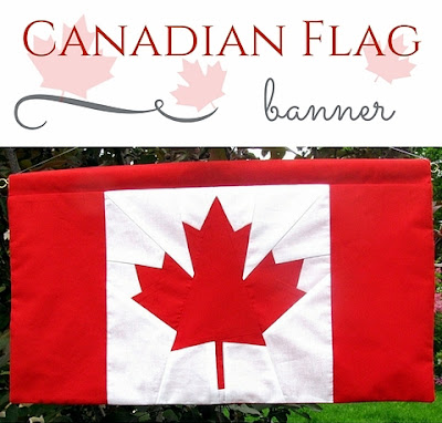 canadian flag banner pattern by monica curry