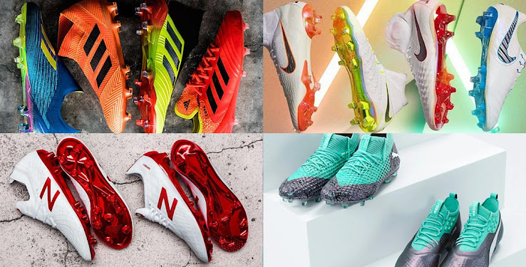 new products 8fb99 ae216 Adidas, Nike, Mizuno, New Balance, Puma, Umbro   Under Armour   All 2018  World Cup Football Boots Packs Revealed