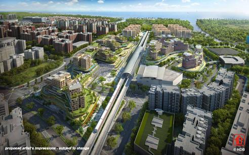 Pasir Ris MRT Mixed Development - Sky View