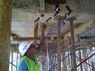 memperbaiki beton dengan cara injeksi pada beton
