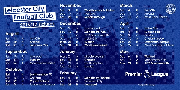Jadwal Leicester