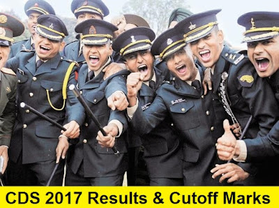 CDS 1 2017 Result and Cutoff marks