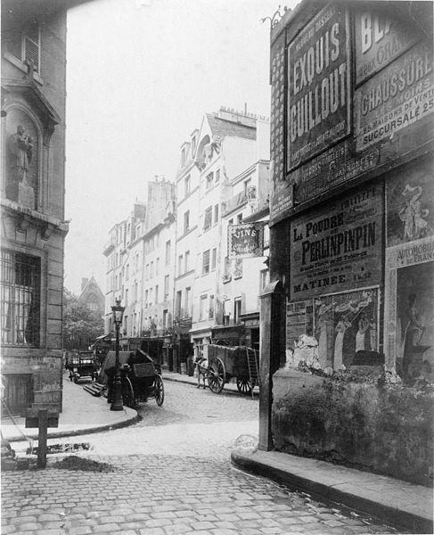 "Eugène Atget, ""Rue Boutebrie"""