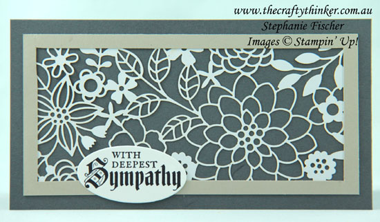 #thecraftythinker #stampinup #sneakpeek #delightfullydetailed #cardmaking #sympathycard , Sneak Peek, Delightfully Detailed paper, Sympathy Card, Stampin' Up Australia Demonstrator, Stephanie Fischer, Sydney NSW