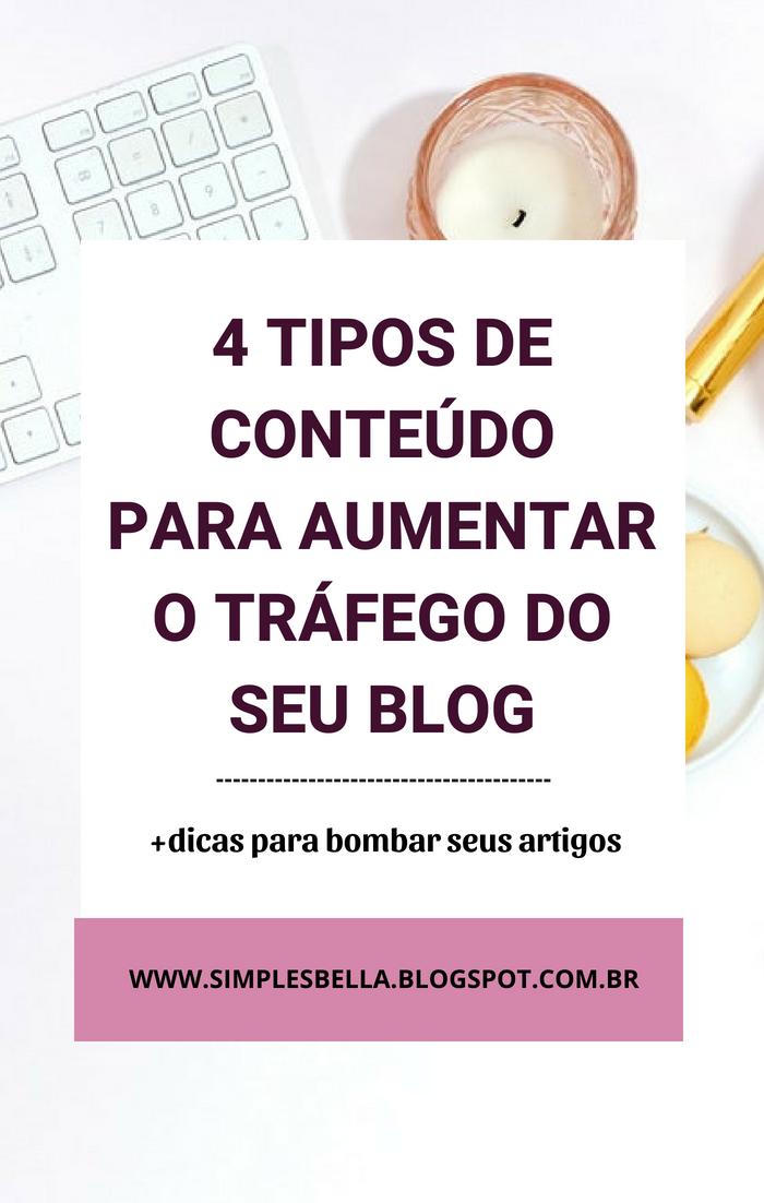 04 Tipos de conteúdo para aumentar o tráfego do seu blog