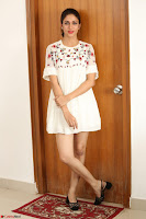 Lavanya Tripathi in Summer Style Spicy Short White Dress at her Interview  Exclusive 176.JPG