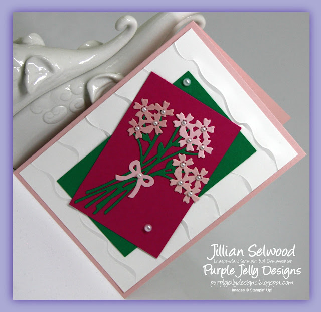 Bouquet Bunch Framelits Dies, Ruffled Dynamic Textured Impressions Embossing Folder