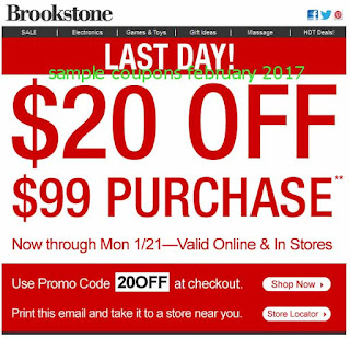 free Brookstone coupons for february 2017