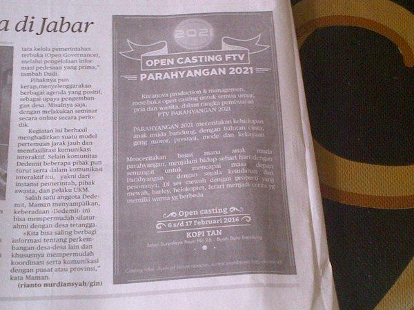 Open Casting FTV di Bandung