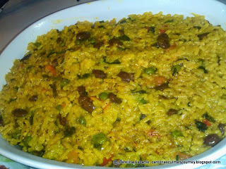 Rice with Red Beans - Arroz con Frijoles Rojos
