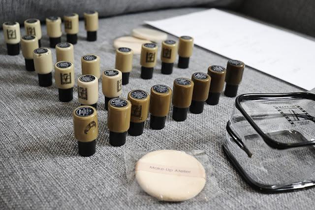 map, swatche,kolory podkładu, podkład wodoodporny, makeup atelier paris,