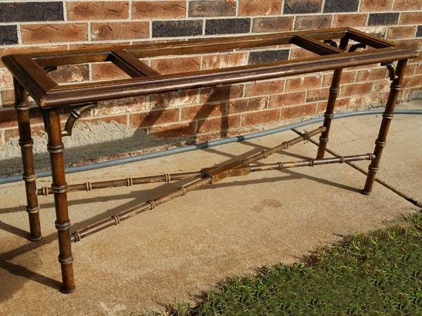 Mid Century LANE Faux Bamboo Console/Sofa Table | OKC Craigslist Garage Sale