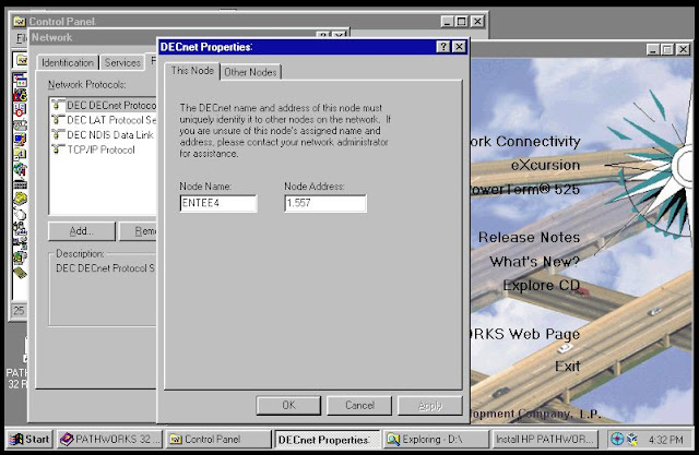 Supratim Sanyal's Blog: DEC Pathworks DECnet on Windows NT 4.0 Hobbyist System at SANYALnet Labs