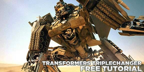 Transformers triple changer Cinema 4D Tutorial