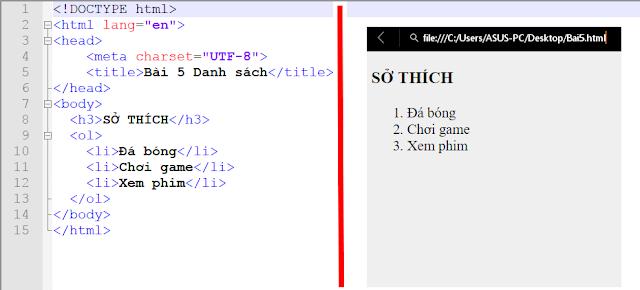 [Series Html] Bài 5. Danh sách ( list)- Danh sách trong html - AnonyHome