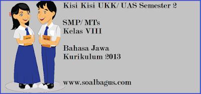 Download/ unduh kisi kisi soal ulangan ukk/ uas b jawa kls 8 semester 2/ genap kurikulum 2013 tahun 2017 www.soalbagus.com