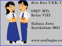 Kisi Kisi UKK B. Jawa Kelas 8 SMP/ MTs Kurikulum 2013