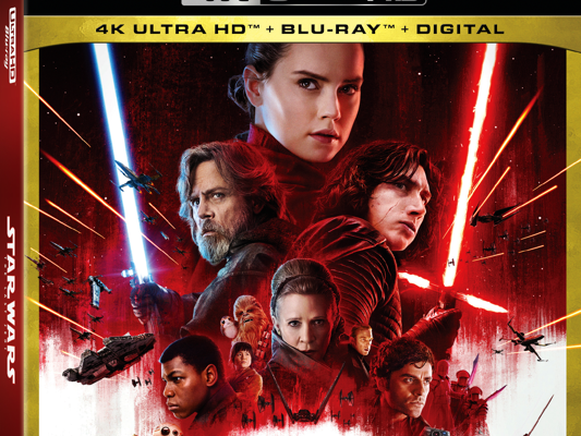 Announcement: Lucasfilm's Star Wars: The Last Jedi on HD and 4K Ultra HD™ and via Movies Anywhere 3/13 and on 4K Ultra HD™ Blu-ray, and Blu-ray™ 3/27